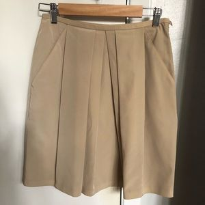 Brooks Brothers 346 light tan crisp skirt